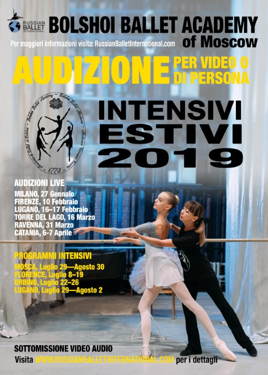 Audition Bolshoi Ballet Lugano